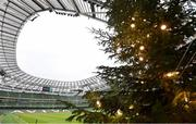 29 November 2020; A general view of a Tree of Life, in aid of St Francis Hospice, in the stadium ahead of the Autumn Nations Cup match between Ireland and Georgia at the Aviva Stadium in Dublin. Photo by Ramsey Cardy/Sportsfile