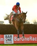 29 November 2020; Envoi Allen, with Jack Kennedy up, jumps the last on their way to winning the BARONERACING.COM Drinmore Novice Steeplechase on day two of the Fairyhouse Winter Festival at Fairyhouse Racecourse in Ratoath, Meath. Photo by Seb Daly/Sportsfile