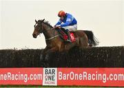 29 November 2020; Court Maid, with David Mullins up, jumps the last on their way to winning the BARONERACING.COM Porterstown Handicap Steeplechase on day two of the Fairyhouse Winter Festival at Fairyhouse Racecourse in Ratoath, Meath. Photo by Seb Daly/Sportsfile