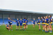 29 November 2020;  Roscommon players look on dejected following their sides defeat in the TG4 All-Ireland Intermediate Ladies Football Championship Semi-Final match between Roscommon and Westmeath at Glennon Brothers Pearse Park in Longford. Photo by Sam Barnes/Sportsfile