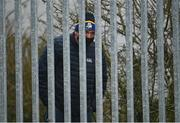 29 November 2020; A Roscommon supporter watches on from outside grounds during the TG4 All-Ireland Intermediate Ladies Football Championship Semi-Final match between Roscommon and Westmeath at Glennon Brothers Pearse Park in Longford. Photo by Sam Barnes/Sportsfile