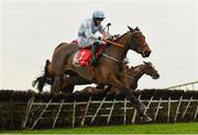 29 November 2020; Honeysuckle, with Rachael Blackmore up, jumps the last on their way to winning the BARONERACING.COM Hatton's Grace Hurdle on day two of the Fairyhouse Winter Festival at Fairyhouse Racecourse in Ratoath, Meath. Photo by Seb Daly/Sportsfile