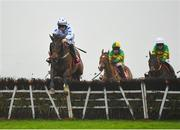 29 November 2020; Advanced Virgo, with Kevin Brouder up, jumps the last on their way to winning the Bar One Racing Extra Places Handicap Hurdle on day two of the Fairyhouse Winter Festival at Fairyhouse Racecourse in Ratoath, Meath. Photo by Seb Daly/Sportsfile