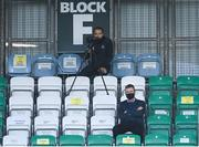 29 November 2020; Republic of Ireland manager Stephen Kenny watches on during the Extra.ie FAI Cup Semi-Final match between Shamrock Rovers and Sligo Rovers at Tallaght Stadium in Dublin. Photo by Stephen McCarthy/Sportsfile