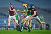 29 November 2020; Seamus Flanagan of Limerick in action against Conor Cooney of Galway during the GAA Hurling All-Ireland Senior Championship Semi-Final match between Limerick and Galway at Croke Park in Dublin. Photo by Eóin Noonan/Sportsfile