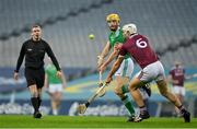 29 November 2020; Seamus Flanagan of Limerick in action against Gearóid McInerney of Galway during the GAA Hurling All-Ireland Senior Championship Semi-Final match between Limerick and Galway at Croke Park in Dublin. Photo by Brendan Moran/Sportsfile