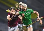 29 November 2020; Cian Lynch of Limerick in action against Padraic Mannion of Galway during the GAA Hurling All-Ireland Senior Championship Semi-Final match between Limerick and Galway at Croke Park in Dublin. Photo by Eóin Noonan/Sportsfile