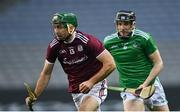 29 November 2020; Brian Concannon of Galway gets past Declan Hannon of Limerick during the GAA Hurling All-Ireland Senior Championship Semi-Final match between Limerick and Galway at Croke Park in Dublin. Photo by Piaras Ó Mídheach/Sportsfile