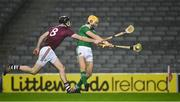 29 November 2020; Seamus Flanagan of Limerick in action against Padraic Mannion of Galway during the GAA Hurling All-Ireland Senior Championship Semi-Final match between Limerick and Galway at Croke Park in Dublin. Photo by Ray McManus/Sportsfile