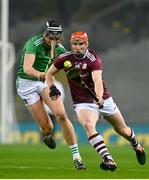 29 November 2020; Conor Whelan of Galway in action against Gearoid Hegarty of Limerick during the GAA Hurling All-Ireland Senior Championship Semi-Final match between Limerick and Galway at Croke Park in Dublin. Photo by Eóin Noonan/Sportsfile