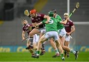 29 November 2020; Conor Whelan of Galway is tackled by William O'Donoghue of Limerick during the GAA Hurling All-Ireland Senior Championship Semi-Final match between Limerick and Galway at Croke Park in Dublin. Photo by Eóin Noonan/Sportsfile