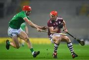 29 November 2020; Conor Whelan of Galway in action against Barry Nash of Limerick during the GAA Hurling All-Ireland Senior Championship Semi-Final match between Limerick and Galway at Croke Park in Dublin. Photo by Eóin Noonan/Sportsfile