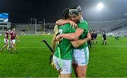 29 November 2020; Dan Morrissey, left, and Gearoid Hegarty of Limerick celebrate after the GAA Hurling All-Ireland Senior Championship Semi-Final match between Limerick and Galway at Croke Park in Dublin. Photo by Brendan Moran/Sportsfile