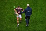 29 November 2020; Galway manager Shane O'Neill consoles Aidan Harte after the GAA Hurling All-Ireland Senior Championship Semi-Final match between Limerick and Galway at Croke Park in Dublin. Photo by Daire Brennan/Sportsfile