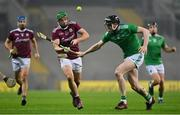 29 November 2020; Adrian Tuohey of Galway in action against Declan Hannon of Limerick during the GAA Hurling All-Ireland Senior Championship Semi-Final match between Limerick and Galway at Croke Park in Dublin. Photo by Brendan Moran/Sportsfile