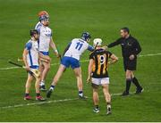 28 November 2020; Referee Fergal Horgan greets Kieran Bennett of Waterford before the GAA Hurling All-Ireland Senior Championship Semi-Final match between Kilkenny and Waterford at Croke Park in Dublin. Photo by Ray McManus/Sportsfile