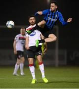 29 November 2020; Dean George of Athlone Town in action against Jordan Flores of Dundalk during the Extra.ie FAI Cup Semi-Final match between Athlone Town and Dundalk at Athlone Town Stadium in Athlone, Westmeath. Photo by Stephen McCarthy/Sportsfile