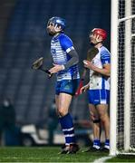 28 November 2020; Waterford goalkeeper Stephen O'Keeffe and team mate Tadhg de Búrca, to his right, during the GAA Hurling All-Ireland Senior Championship Semi-Final match between Kilkenny and Waterford at Croke Park in Dublin. Photo by Ray McManus/Sportsfile