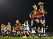 30 November 2020; Denise O'Sullivan, left, and Heather Payne during a Republic of Ireland training session at Tallaght Stadium in Dublin. Photo by Stephen McCarthy/Sportsfile