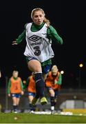 30 November 2020; Ellen Molloy during a Republic of Ireland training session at Tallaght Stadium in Dublin. Photo by Stephen McCarthy/Sportsfile