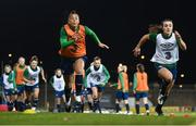 30 November 2020; Rianna Jarrett, left, and Niamh Farrelly during a Republic of Ireland training session at Tallaght Stadium in Dublin. Photo by Stephen McCarthy/Sportsfile