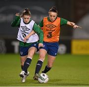 30 November 2020; Emily Whelan, left, and Aine O'Gorman during a Republic of Ireland training session at Tallaght Stadium in Dublin. Photo by Stephen McCarthy/Sportsfile
