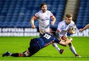 30 November 2020; Ian Madigan of Ulster is tackled by Jamie Hodgson of Edinburgh during the Guinness PRO14 match between Edinburgh and Ulster at BT Murrayfield in Edinburgh, Scotland. Photo by Paul Devlin/Sportsfile