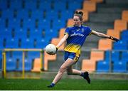 29 November 2020; Laura Fleming of Roscommon takes a free during the TG4 All-Ireland Intermediate Ladies Football Championship Semi-Final match between Roscommon and Westmeath at Glennon Brothers Pearse Park in Longford. Photo by Sam Barnes/Sportsfile