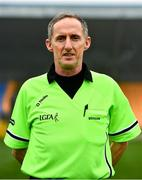29 November 2020; Referee John Devlin ahead of the TG4 All-Ireland Intermediate Ladies Football Championship Semi-Final match between Roscommon and Westmeath at Glennon Brothers Pearse Park in Longford. Photo by Sam Barnes/Sportsfile
