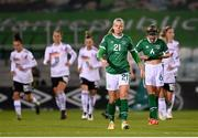 1 December 2020; Ruesha Littlejohn and Jamie Finn, right, of Republic of Ireland after conceding their first goal during the UEFA Women's EURO 2022 Qualifier match between Republic of Ireland and Germany at Tallaght Stadium in Dublin. Photo by Stephen McCarthy/Sportsfile