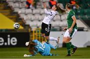 1 December 2020; Grace Moloney of Republic of Ireland in action against Tabea Waßmuth of Germany during the UEFA Women's EURO 2022 Qualifier match between Republic of Ireland and Germany at Tallaght Stadium in Dublin. Photo by Eóin Noonan/Sportsfile