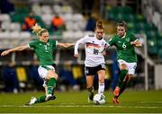 1 December 2020; Linda Dallmann of Germany is tackled by Diane Caldwell, left, and Jamie Finn of Republic of Ireland during the UEFA Women's EURO 2022 Qualifier match between Republic of Ireland and Germany at Tallaght Stadium in Dublin. Photo by Eóin Noonan/Sportsfile
