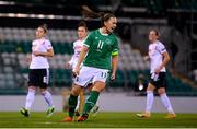 1 December 2020; Katie McCabe of Republic of Ireland celebrates after scoring her side's first goal during the UEFA Women's EURO 2022 Qualifier match between Republic of Ireland and Germany at Tallaght Stadium in Dublin. Photo by Stephen McCarthy/Sportsfile