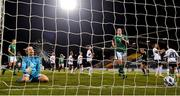 1 December 2020; Grace Moloney of Republic of Ireland reacts after her side conceded their first goal from a penalty during the UEFA Women's EURO 2022 Qualifier match between Republic of Ireland and Germany at Tallaght Stadium in Dublin. Photo by Eóin Noonan/Sportsfile