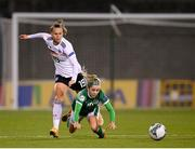 1 December 2020; Denise O'Sullivan of Republic of Ireland in action against Klara Bühl of Germany during the UEFA Women's EURO 2022 Qualifier match between Republic of Ireland and Germany at Tallaght Stadium in Dublin. Photo by Stephen McCarthy/Sportsfile