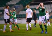 1 December 2020; Amber Barrett of Republic of Ireland reacts to a missed opportunity during the UEFA Women's EURO 2022 Qualifier match between Republic of Ireland and Germany at Tallaght Stadium in Dublin. Photo by Stephen McCarthy/Sportsfile