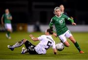 1 December 2020; Denise O'Sullivan of Republic of Ireland in action against Marina Hegering of Germany during the UEFA Women's EURO 2022 Qualifier match between Republic of Ireland and Germany at Tallaght Stadium in Dublin. Photo by Stephen McCarthy/Sportsfile