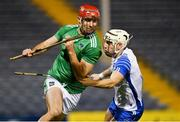 15 November 2020; Barry Nash of Limerick in action against Dessie Hutchinson of Waterford during the Munster GAA Hurling Senior Championship Final match between Limerick and Waterford at Semple Stadium in Thurles, Tipperary. Photo by Brendan Moran/Sportsfile
