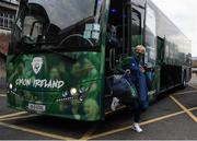 1 December 2020; Republic of Ireland manager Vera Pauw arrives prior to the UEFA Women's EURO 2022 Qualifier match between Republic of Ireland and Germany at Tallaght Stadium in Dublin. Photo by Stephen McCarthy/Sportsfile
