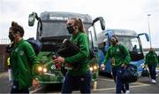 1 December 2020; Grace Moloney of Republic of Ireland arrives prior to the UEFA Women's EURO 2022 Qualifier match between Republic of Ireland and Germany at Tallaght Stadium in Dublin. Photo by Stephen McCarthy/Sportsfile
