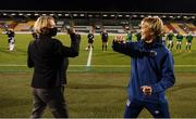 1 December 2020; Republic of Ireland manager Vera Pauw and Germany head coach Martina Voss-Tecklenburg prior to the UEFA Women's EURO 2022 Qualifier match between Republic of Ireland and Germany at Tallaght Stadium in Dublin. Photo by Stephen McCarthy/Sportsfile