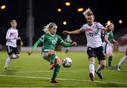 1 December 2020; Denise O'Sullivan of Republic of Ireland in action against Lena Lattwein of Germany during the UEFA Women's EURO 2022 Qualifier match between Republic of Ireland and Germany at Tallaght Stadium in Dublin. Photo by Stephen McCarthy/Sportsfile