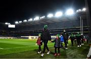 8 December 2020; Members of Thomas Davis GAA club Aideen Byrne and her daughters Jude, right, age 5, and Jenna, age 7, during the launch of Ireland Lights Up 2021 in partnership with RTÉ's Operation Transformation and Get Ireland Walking at Croke Park in Dublin. Photo by David Fitzgerald/Sportsfile