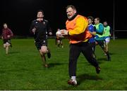 4 December 2020; Ross Elms in action with his team-mates during County Carlow FC Men's Squad return to training today at Carlow RFC in Carlow. Photo by Matt Browne/Sportsfile