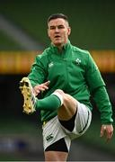 5 December 2020; Jonathan Sexton of Ireland prior to the Autumn Nations Cup match between Ireland and Scotland at the Aviva Stadium in Dublin. Photo by Seb Daly/Sportsfile