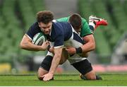 5 December 2020; Duncan Taylor of Scotland is tackled by CJ Stander of Ireland during the Autumn Nations Cup match between Ireland and Scotland at the Aviva Stadium in Dublin. Photo by Ramsey Cardy/Sportsfile