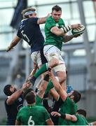 5 December 2020; Peter O'Mahony of Ireland and Jonny Gray of Scotland battle for possession of a line-out during the Autumn Nations Cup match between Ireland and Scotland at the Aviva Stadium in Dublin. Photo by Ramsey Cardy/Sportsfile