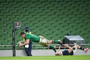 5 December 2020; Peter O'Mahony of Ireland scores a try which is subsequently disallowed during the Autumn Nations Cup match between Ireland and Scotland at the Aviva Stadium in Dublin. Photo by Ramsey Cardy/Sportsfile
