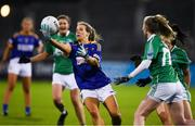 5 December 2020; Laura Hogan of  Wicklow in action against Fermanagh during the TG4 All-Ireland Junior Ladies Football Championship Final match between Fermanagh and Wicklow at Parnell Park in Dublin. Photo by Matt Browne/Sportsfile