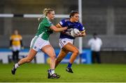 5 December 2020; Aoife Gorman of  Wicklow in action against Aoife Flanagan of Fermanagh during the TG4 All-Ireland Junior Ladies Football Championship Final match between Fermanagh and Wicklow at Parnell Park in Dublin. Photo by Matt Browne/Sportsfile